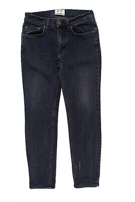 Acne Studios Ace Skinny Jeans In Blue Black Size 30 X 27