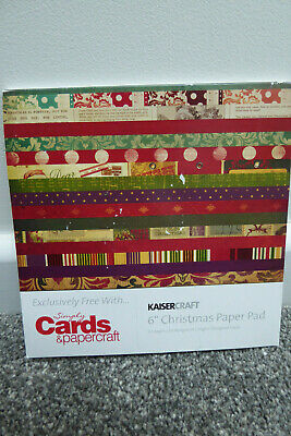 "Kaisercraft 6"" x 6"" Christmas Paper Pad - 26 sheets"