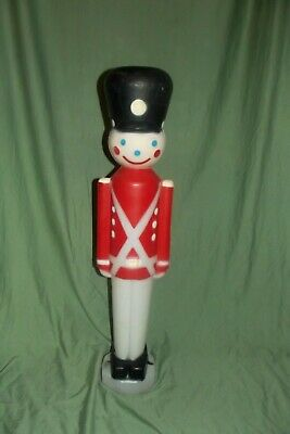 "Vintage Toy Soldier Nutcracker Empire Blow Mold Christmas Lighted 30"" Tall, Cord"