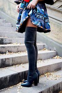 Zara-Velvet-Over-the-Knee-High-Heel-Boots-size-36-38-39-40