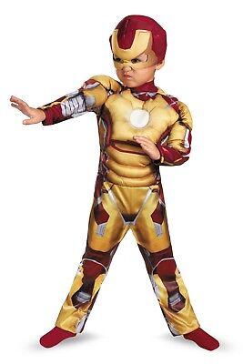 Costumes Iron Man (Iron Man 3 Iron Man Toddler Costume Marvel Comics Reactor Glows Size 3T-4T)