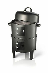 Vivo-Black-BBQ-Charcoal-Grill-Barbecue-Smoker-Garden-Outdoor-Cooking-Steel-Smoke