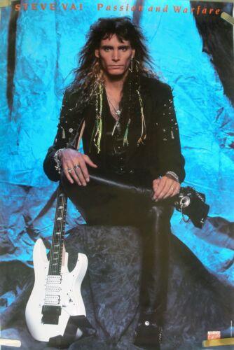 STEVE VAI GUITAR PASSION & WARFARE 1990 VINTAGE MUSIC RECORD STORE PROMO POSTER