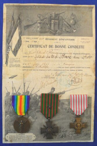 French WW1 3 Medal Group 120e Régiment d