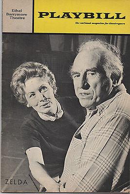 1969 Playbill Zelda a Comedy Ed Begley Lilia Skala Robby Benson ONLY 8 Shows