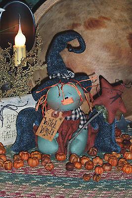 Primitive Raggedy Ann Witch Halloween Doll Paper Pattern #115