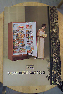 Vtg 1969 Booklet  Sears Coldspot Freezer  Owners Guide Appliance