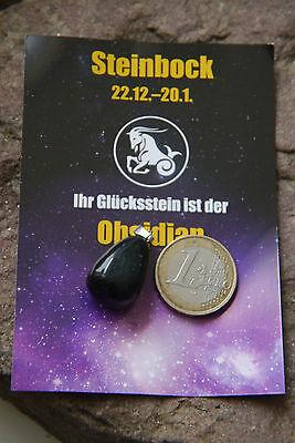 Steinbock Sternzeichen Edelstein Anhänger  Tierkreiszeichen Horoskop Stein