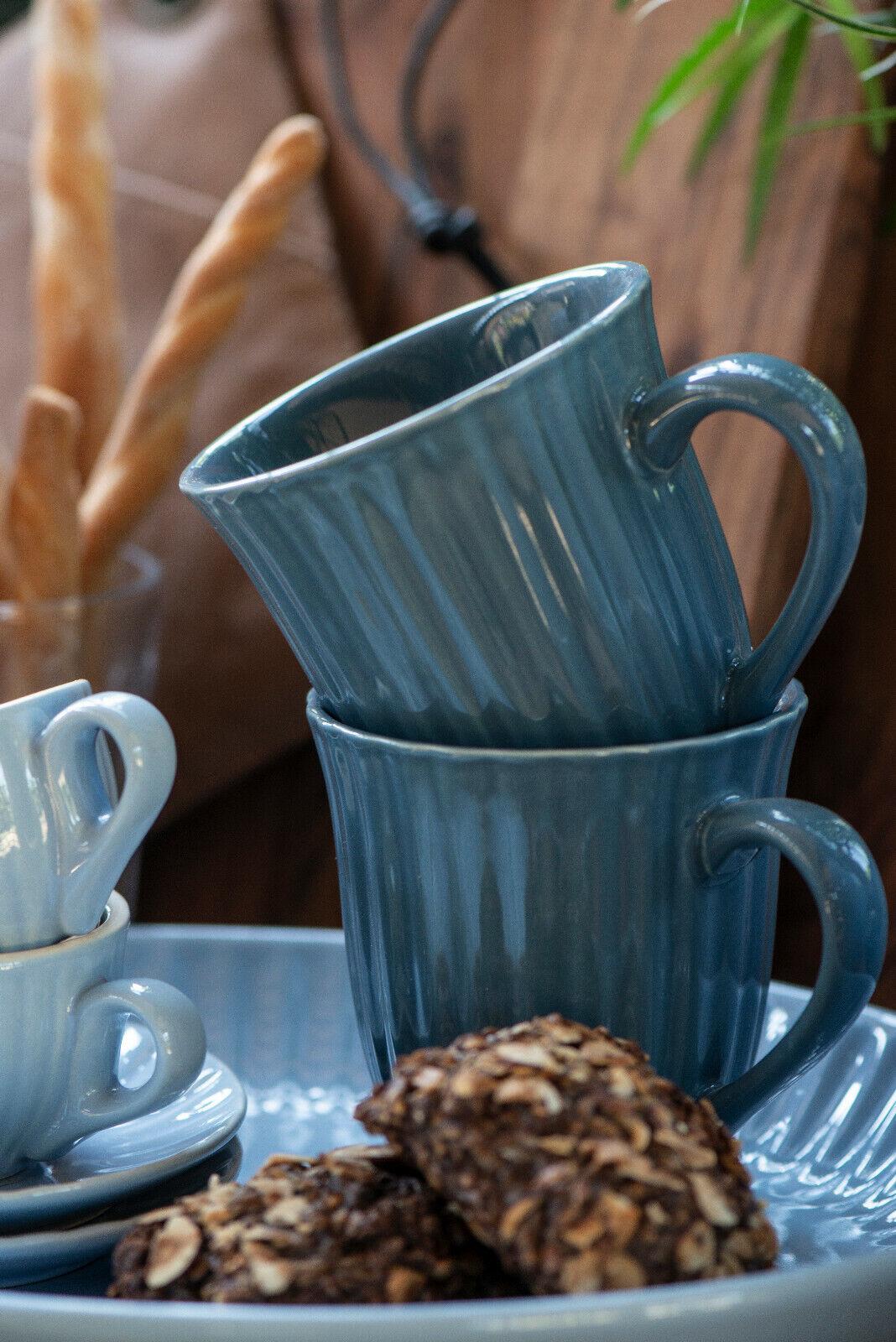 Ib Laursen Mynte  Rührschüssel latte gerillt Keramik Schüssel