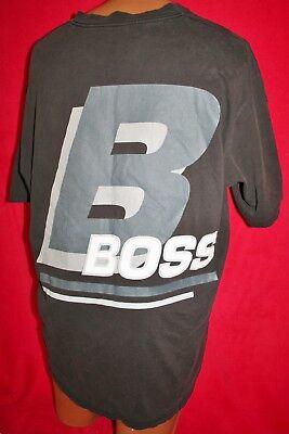 Vintage 90s HUGO BOSS Huge Back Graphic T-SHIRT XXL 2XL Hip Hop Rap Fashion Vtg