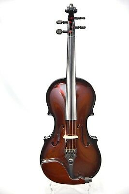 GLASSER CARBON COMPOSITE ACOUSTIC ELECTRIC VIOLIN 4/4 OUTFIT - BURNT ORANGE