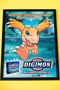 Original PS1 Digimon poster framed Greenway Tuggeranong Preview