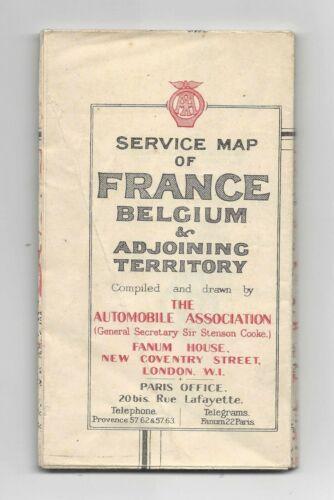 c1920 Service Map of France, Belgium & Adjoining Territory
