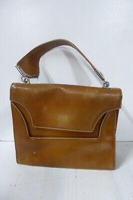1950s Handbags, Purses, and Evening Bag Styles CLASSIC VINTAGE LEATHER 1950s HANDBAG $43.44 AT vintagedancer.com