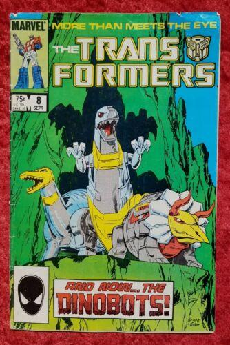 Transformers #8, Marvel, 1985; Reader copy; 1st Dinobots! Grimlock!
