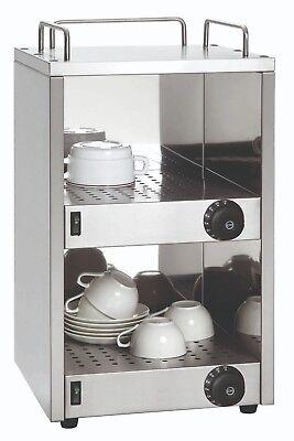 Tassenwärmer (Edelstahl Tassenwärmer für ca. 40 Tassen - 2 Temperatur-Zonen- Geschirrwärmer)