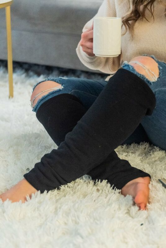 Organic Leg Warmers Fleece - Black + More Colors