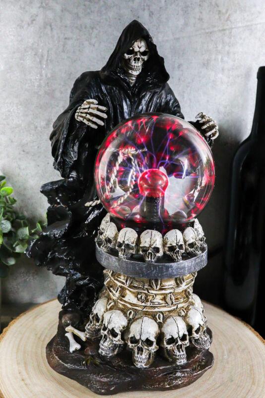 Ebros Gothic Alchemy Day of The Dead Grim Reaper Death Electric Plasma Ball Lamp