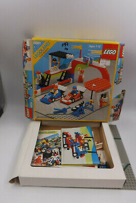 Vintage 1987 Lego Motor Speedway 6381 incomplete for parts  w/Instructions