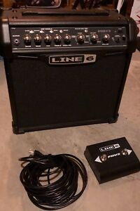 Line 6 Spider IV 15, amp with remote stomp box