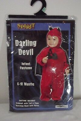Spirit Baby Costumes (Spirit Darling RED DEVIL Costume - Infant Baby 6-18 months / Dress Up)