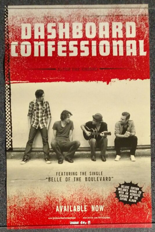 Dashboard Confessional Alter the Ending 2009 DOUBLE SIDED PROMO POSTER