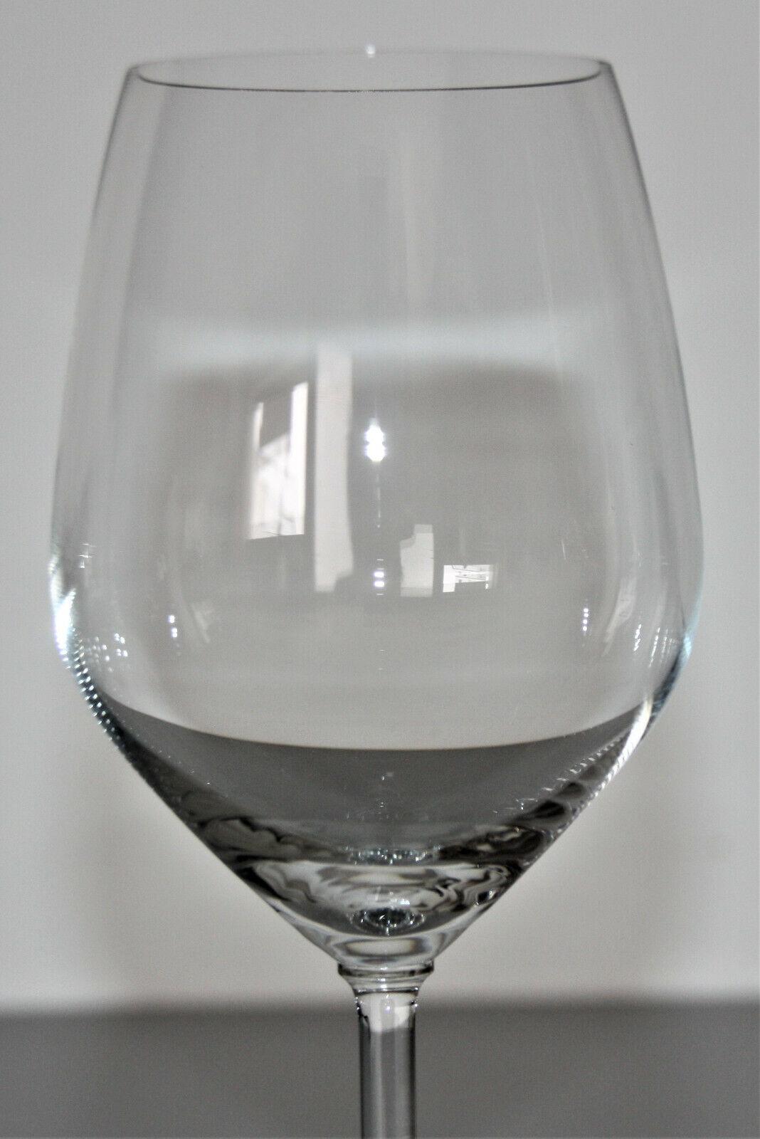 6 verres de vin rouge simple h 21,5 cm -