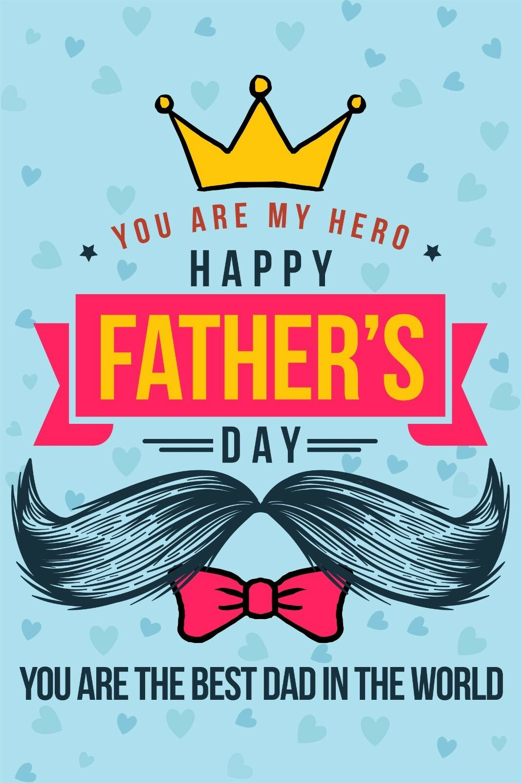 Father's Day Garden Flag Hero Best Dad Banner 12x18 2Sided H
