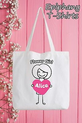Funny Girl Tote - Flower Girl Personalised Tote Bag Funny Gift Hen Wedding Add Name Marriage