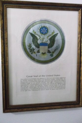 Beautifully Framed Great Seal of the United States