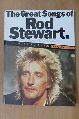 THE GREAT SONGS OF ROD STEWART - WISE PUBLICATIONS, U.K. 1985 ISBN 0711906807