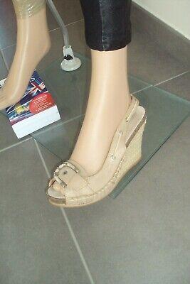 CHAUSSURES/ESCARPINS - chaussures compensées O'MODA - T 38 - bon état/défaut