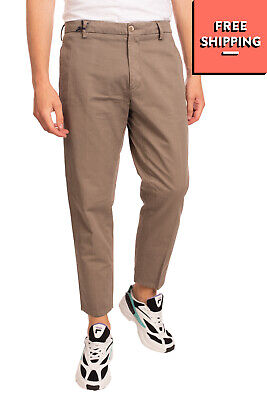 RRP €105 BE ABLE Chino Trousers Size 33 Garment Dye Flat Front Zip Fly Cropped