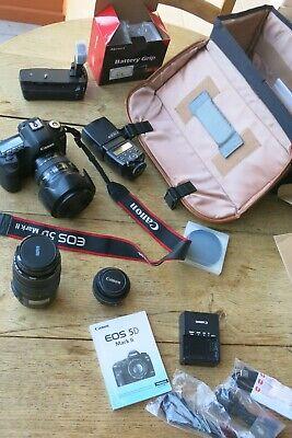 lot: appareil photo CANON EOS 5D Mark II, 3 objectifs et accessoires