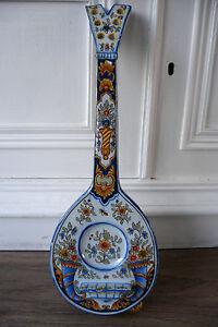 Ancienne bouqueti re mandoline en fa ence de desvres for Faience murale ancienne