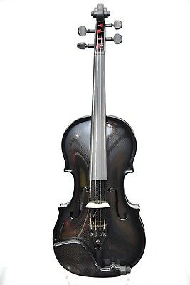 GLASSER CARBON COMPOSITE ACOUSTIC ELECTRIC VIOLIN 4/4 OUTFIT - BLACK