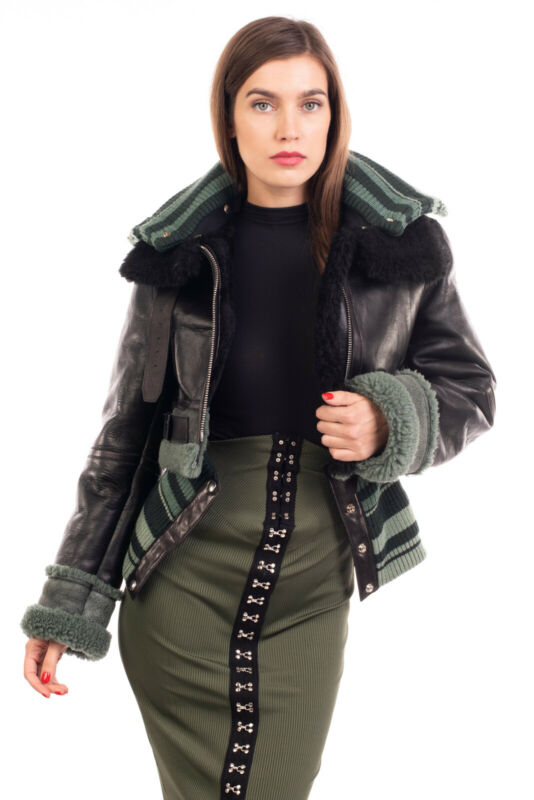 RRP €2555 ACNE STUDIOS Leather & Shearling Jacket Size 36 / S Removable Contrast