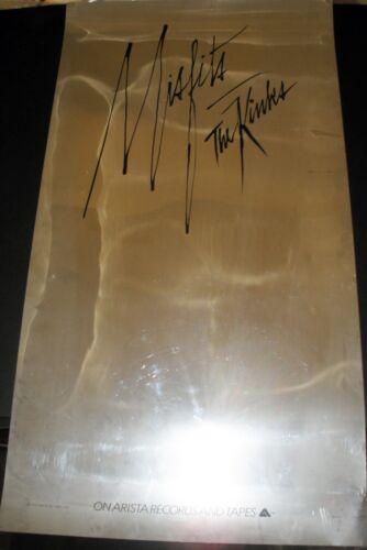 VERY RARE THE KINKS MISFITS 1978 VINTAGE ORIG MUSIC RECORD STORE PROMO DISPLAY