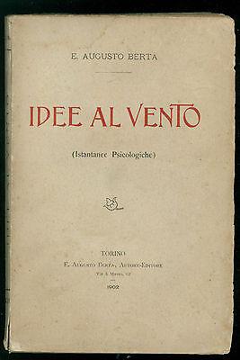 BERTA AUGUSTO IDEE AL VENTO AUGUSTO BERTA 1902 PSICOLOGIA SOCIOLOGIA