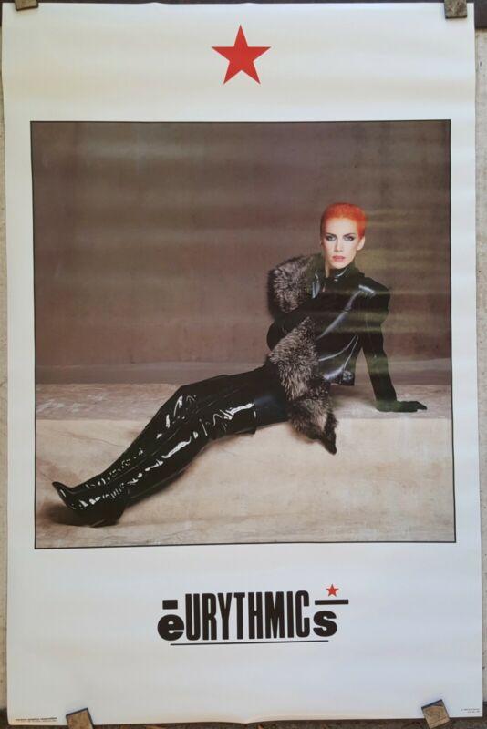 "Eurythmics Poster ORIGINAL 1984 approx 21"" x 32"" unused Annie Lennox"