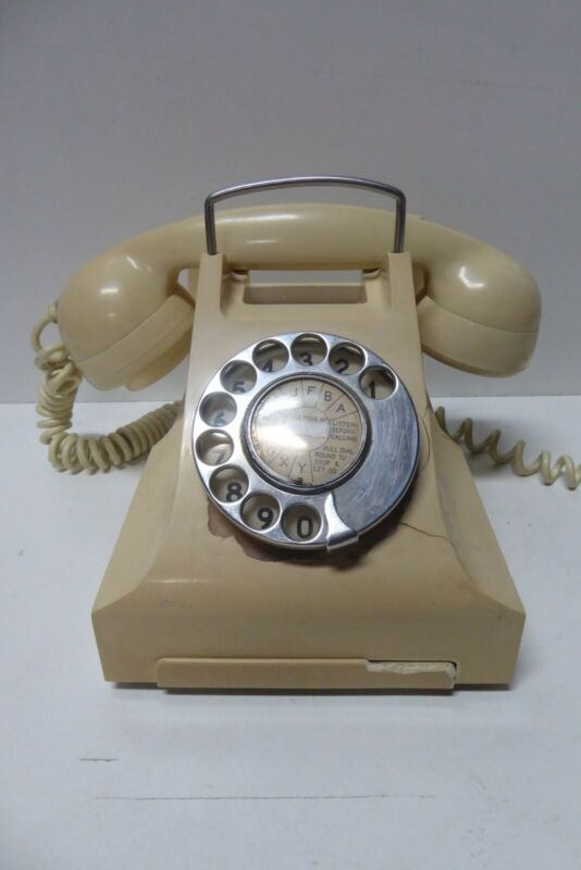 ART DECO WHITE CREAM BAKELITE PMG TELEPHONE CASE A/F
