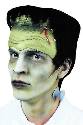 MONSTER HEADPIECE WITH HAIR AND BOLTS FRANKENSTEIN
