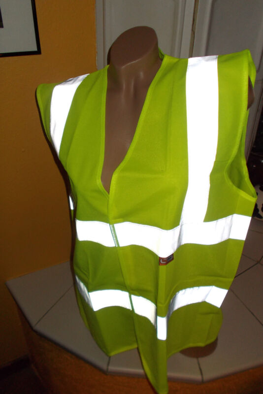Safety Vest Yellow With Reflectors for More Safety IN Traffic