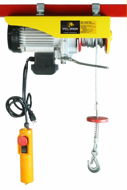 Steel Dragon Tools® 1760 LBS Mini Electric Wire Cable Hoist Overhead Crane Lift