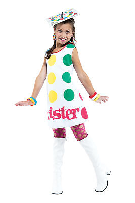 Twister Child Costume Spinner Game Multicolor Halloween