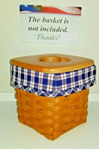 Tall Tissue Basket Liner from Longaberger JW Plaid with red accents. New!
