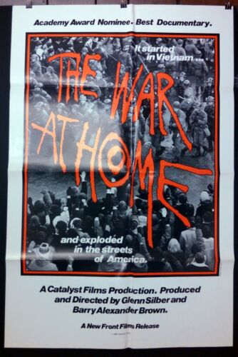 THE WAR AT HOME 1979 Best Doc Nom RESISTANCE -RARE 1sht Poster NEVER USED C8/EX