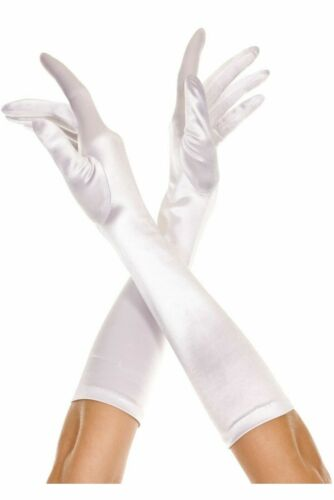 Women Sexy Lingerie Gloves Basic Satin Costume Cosplay Party