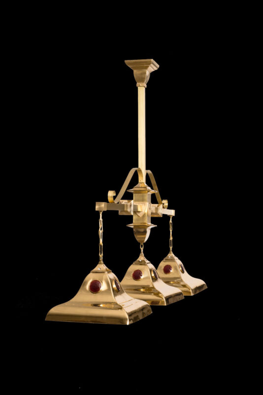 Pool Table Light - Brass- Traditional