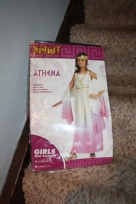 Athena Goddess Costume for Girls Medium 8-10 Pink GOWN ONLY - Athena Goddess Costume
